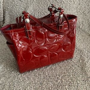 Coach Red Patent Leather Bag